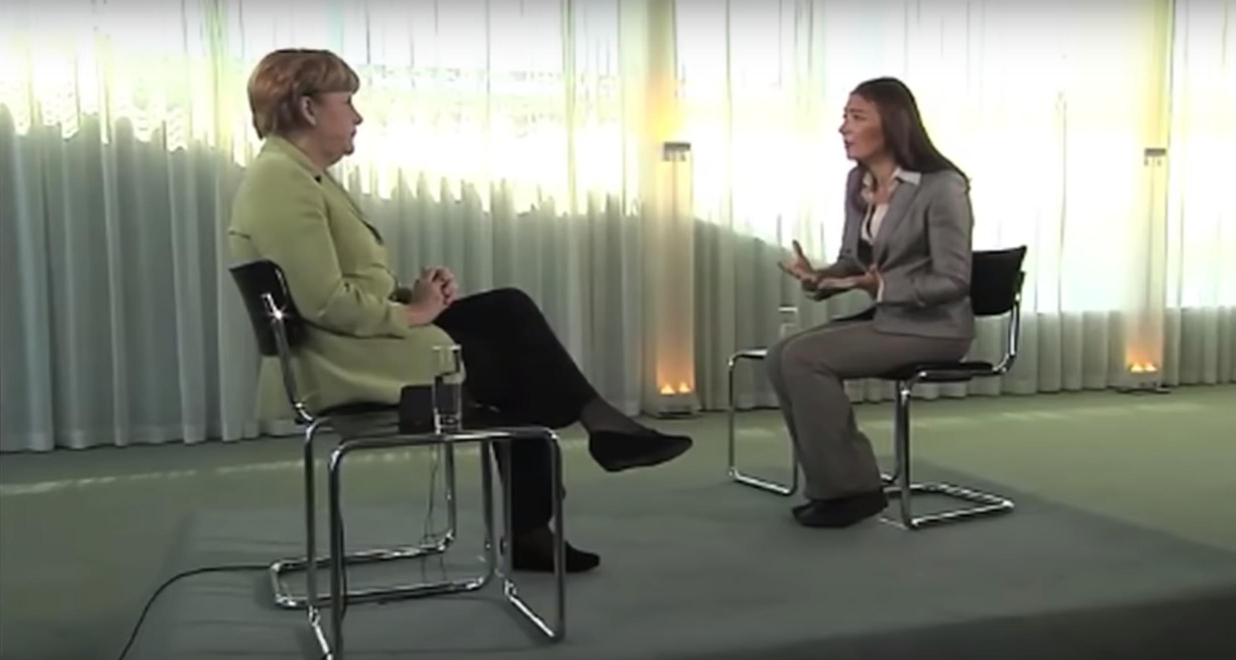 Angela Merkel in conversation with Katya Alder